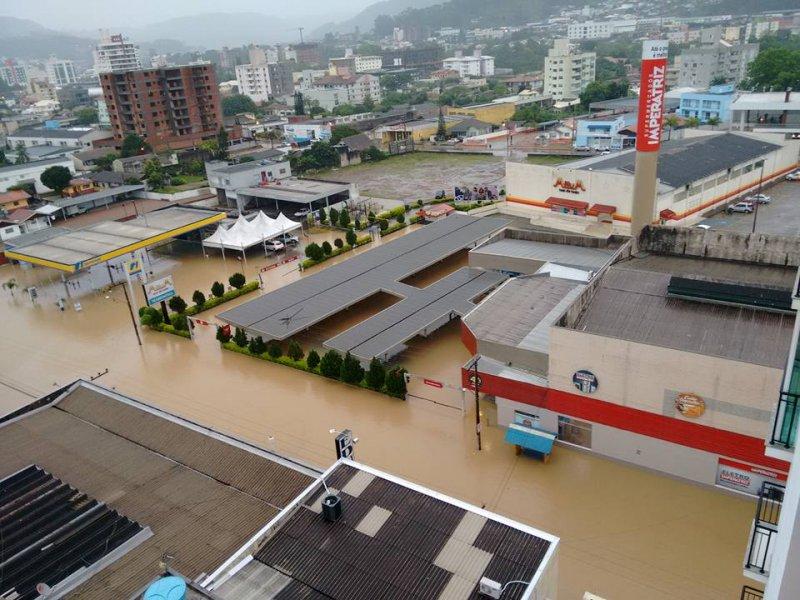 Fotos enchente rio do sul hoje
